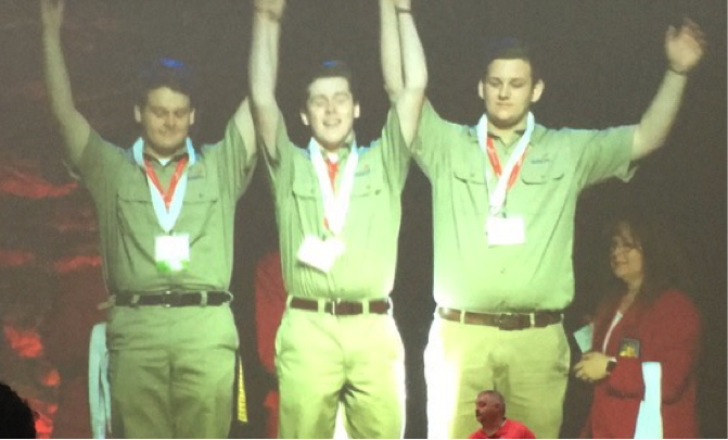 Walker Valley High School students compete in SkillsUSA State Competition and leave with gold