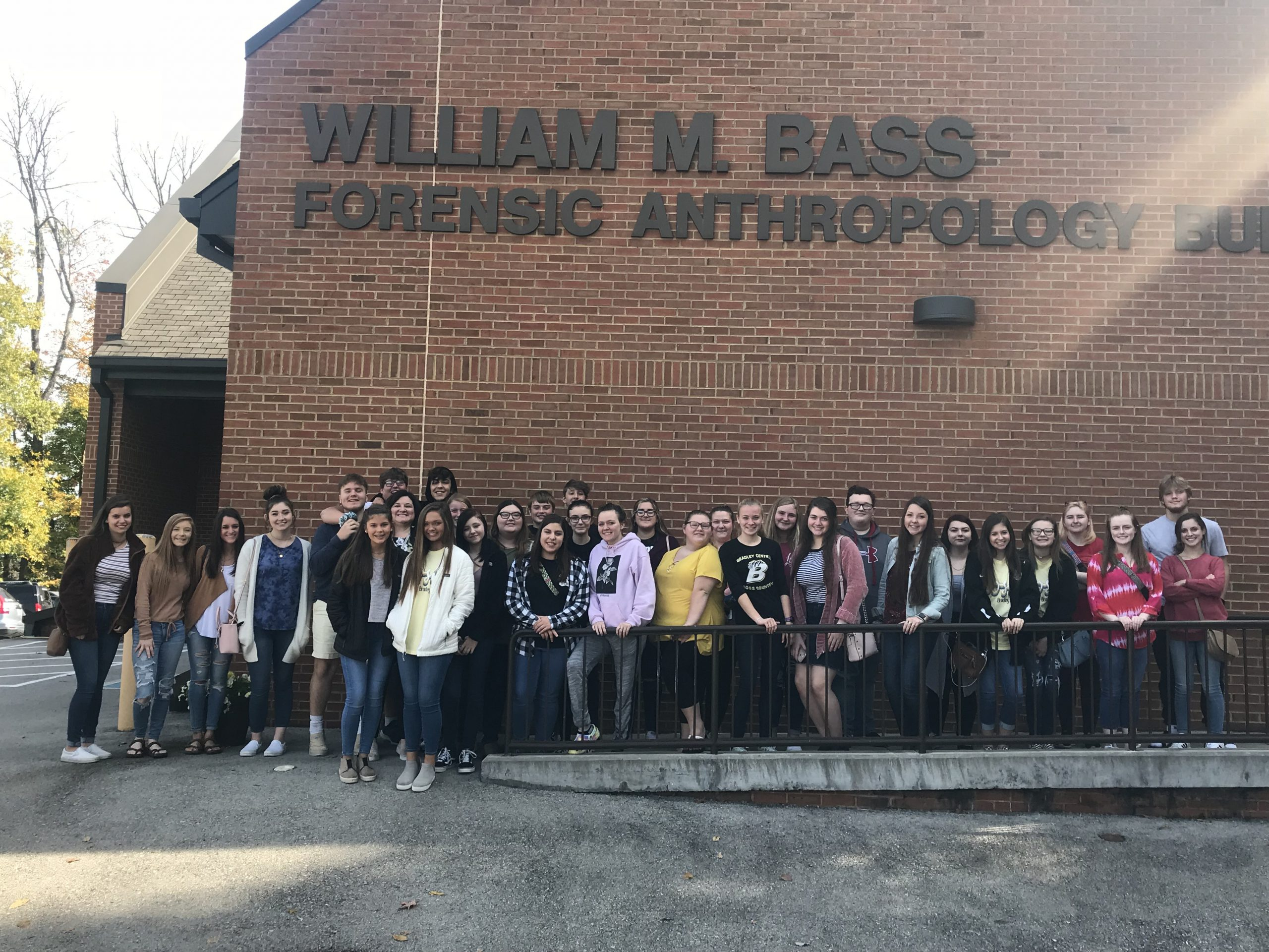 Bradley Central's Health Science and Anatomy and Physiology classes visit the William M. Bass Forensic Anthropology Building at UTK